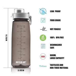 Bottled joy 0.7L BPA-free Direct Drink Tritan Leak Proof Water Bottle w Flip-top