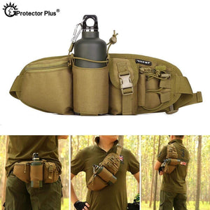 Protector Plus Tactical Waist Case Pack Bag Water Bottle Pouch Camping Hiking Hunting