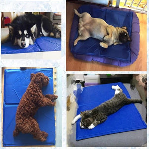 Pet Dog & Cat Cooling Mat Ice Pad Mattress Bed Cushion Keep Cool Gel