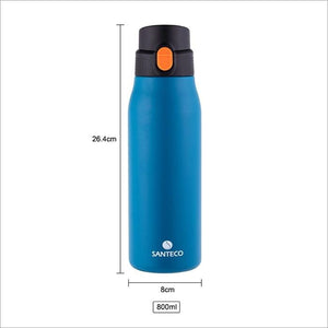 27 oz / 800ml Santeco Super Light Stainless Steel Pop-top Vacuum Bottle