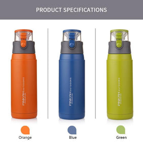 PINKAH 650ML Thermo Mug Stainless Steel Vacuum Flasks Sport Style Insulated Outdoor Water Bottle Thermos
