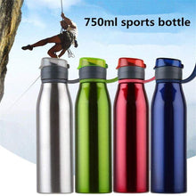 Load image into Gallery viewer, LP PUNK - 750ml / 25 oz Stainless Steel Water Bottle w Handle & Flip-top Lid