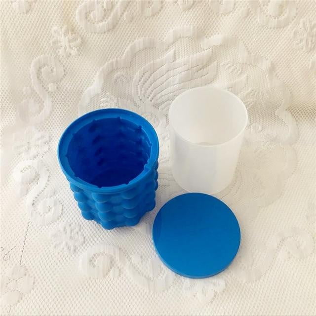 Silicone Ice Cube Maker Portable Bucket Cooler Space Saving Kitchen Freezer Tools