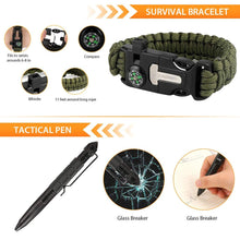 Load image into Gallery viewer, 35 piece Survival Kit Outdoor Emergency Tactical Survival Gear for Cars Camping Hiking Hunting
