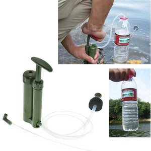 OUTAD Portable Camp Water Filter with Purify Pump and Storage Box For Outdoor Survival Hiking