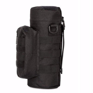 Water Bottle Pouch Case Water-repellent Zipper Tactical Military Pack Bag for Travel Climbing