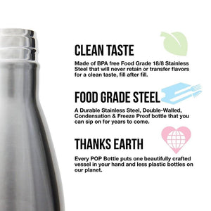 The Aqua Grail - Stainless Steel Double-Wall Vacuum Flask Soda-pop Style Water Bottle
