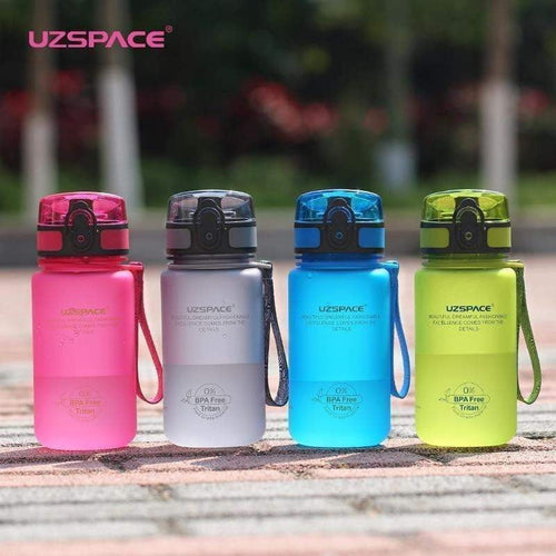 UZSPACE 350ml Sports Water Bottle Kid Eco-friendly Plastic Leak Proof Tour Bottle BPA Free