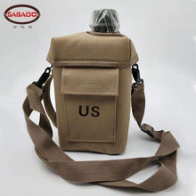Load image into Gallery viewer, PBA-free Plastic Military Canteen 2L Capacity Choice of Skin for Maneuvers Camping Hiking Climbing