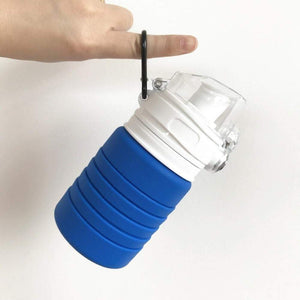 XeuLi - Folding Collapsible Silicone 16 fl oz / 500ML Water Bottle BPA-Free