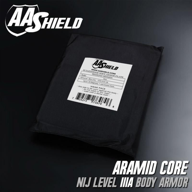 AA Shield Bullet Proof Soft Armor Panel Body Armor Plate - NIJ Lvl IIIA & HG2 (8X10