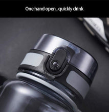Load image into Gallery viewer, UZSPACE Popular Gray Water Bottle Men Outdoor Sport Travel My Drink Bottle Portable Leakproof Plastic Bottle BPA Free 5 Capacity