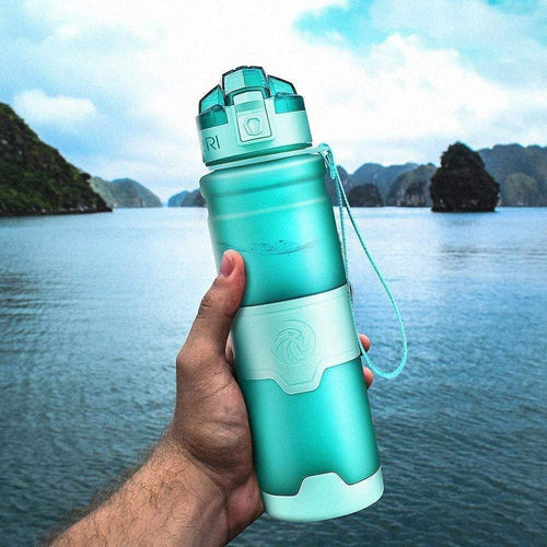 ZORRI Water Bottle Portable Motion Sports Water Bottle Bpa Free Plastic Hiking Gourde 1000ml