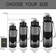 Load image into Gallery viewer, ZORRI -  400 to 1000ml - Sports Water Bottle BPA-Free Plastic Pop-top w Cleaning Brush*