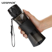 Load image into Gallery viewer, UZSPACE Shaker Sports Water Bottles Creative Drink Camping Tour My Bottle for Water 350/500ml Plastic Tritan Drinkware BPA Free