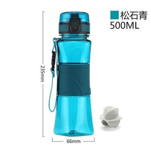 UZSPACE Shaker Sports Water Bottles Creative Drink Camping Tour My Bottle for Water 350/500ml Plastic Tritan Drinkware BPA Free