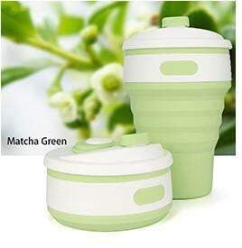 Collapsible Silicone Folding Travel Mug for the Office Camping Hiking Picnic Water Cup BPA Free