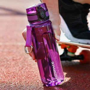 UZSPACE Sport Water Bottle 400/500/800/1000ml Portable Leakproof Outdoor Bicycle Shaker Fruit Tea Infuse Drink Bottle For Water Plastic BPA Free