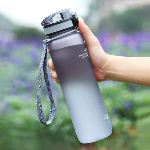 UZSPACE 1L Pop-top Water Bottle Leak-Proof Tritan BPA free