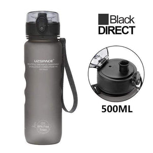 UZSPACE Water Bottle 500ml Pop-top Direct Drink Leak-proof Tritan BPA Free Plastic