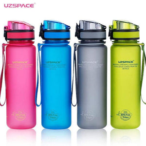 UZSPACE 12 / 16 / 32 fl oz  (350/500/1000ml) BPA Free Tritan Plastic Sport Water Bottle