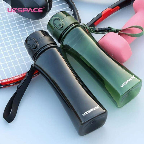 UZSPACE New 350&500ml Sport Water Bottle Creative Portable Sports Camping Tea juice Tritan Plastic Drinkware My Bottle for Water