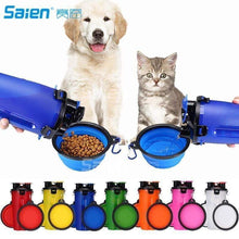 Load image into Gallery viewer, Outdoor Travel Collapsible Dog Bowl and Water Bottle Portable Leak Proof Set
