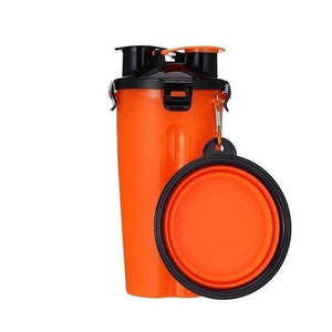 Outdoor Travel Collapsible Dog Bowl and Water Bottle Portable Leak Proof Set