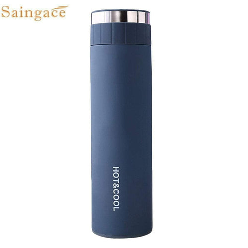Saingace travel Portable Thermos 500ml Double Wall Stainless Steel Flask Water Bottle