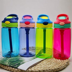 500ml Kids Sport Water Bottle BPA Free w. Pop-up Straw - Vibrant Colors