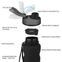 Load image into Gallery viewer, ZORRI Large 1.2 Litre (41oz) Sports Water Bottle