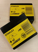 200 x Original Stanley 1992, Heavy Duty Straight Blades, 2 notch, Stanley 1-11-921