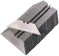 Heavy Duty Straight Blades, in paper tucks, MADE IN SHEFFIELD - pack of 100