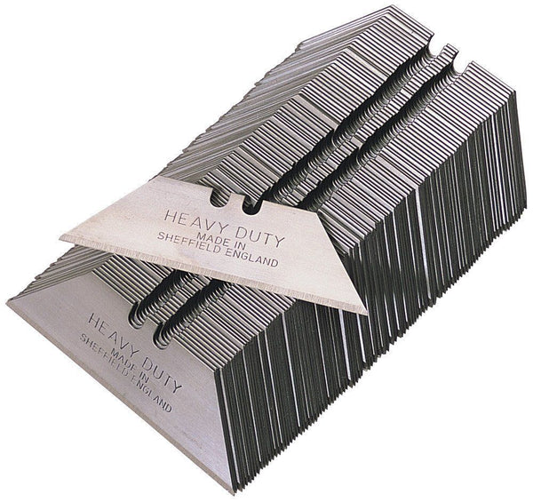 Heavy Duty Straight Blades, 2 notch 4 holes, in paper tucks, MADE IN SHEFFIELD - pack of 100