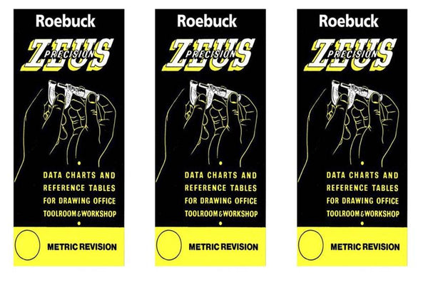 3 x Deal - Zeus Precision Data Charts & Reference Tables - Metric Revision