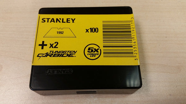 100 x Original Stanley 1992, Heavy Duty Straight Blades, 2 notch, Stanley 1-11-921