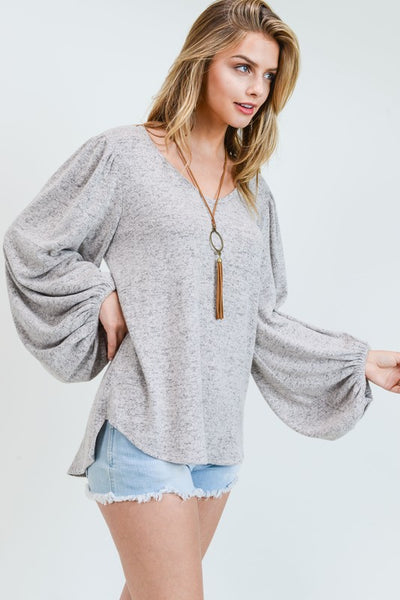 Gray Escape Top
