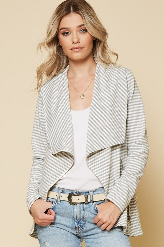 Gray and White Jacket