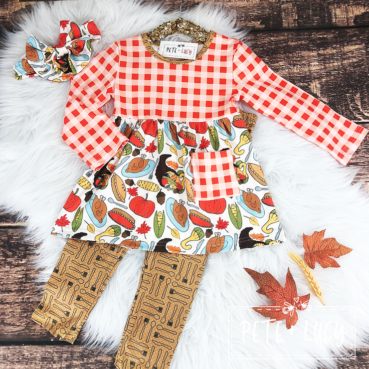 Girls Turkey Day 2 Piece Set