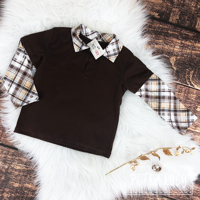 Boys Fancy Brown Top