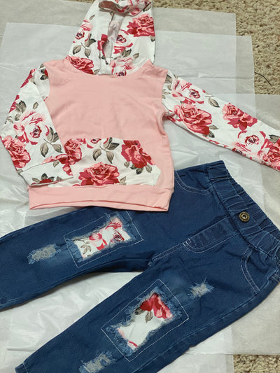 Floral Girls Pant Set