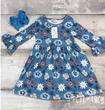 Blue Blooms Dress