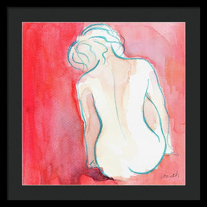 Female Watercolor Figure I Framed Print by Lanie Loreth