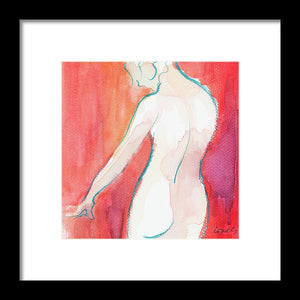 Female Watercolor Figure II Framed Print by Lanie Loreth