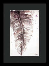 Load image into Gallery viewer, Muted Watercolor Plantain Leaves I Framed Print by Patricia Pinto