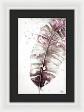 Load image into Gallery viewer, Muted Watercolor Plantain Leaves II Framed Print by Patricia Pinto