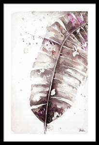 Muted Watercolor Plantain Leaves II Framed Print by Patricia Pinto