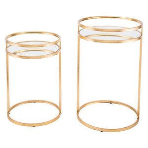 Zuo Set Of 2 Nesting Tables Gold