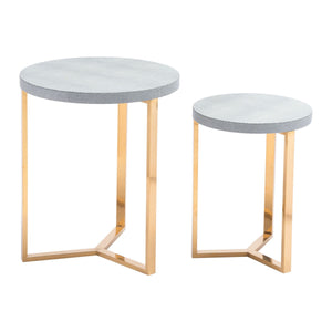 Zuo Gela Set of 2 Round Tables Gray