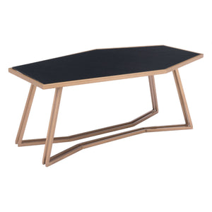 Zuo Geo Coffee Table Black & Gold